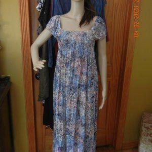 Dresses & Skirts - Retro Vintage Peasant Boho Hippie Dress OSFM